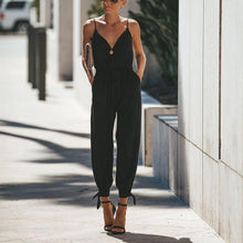 Sexy Deep V Sling Bare Back Jumpsuits
