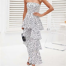 Sexy One Shoulder Wave Point Jumpsuit