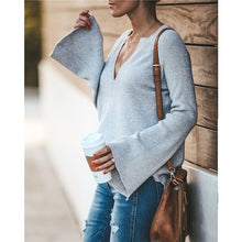 Sexy Pure Color V-Neck Loose Knit Sweater