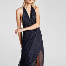 Sexy Deep V Sleeveless Backless Evening Dress