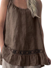 Casual Sleeveless Splicing Lace Off-Shoulder Waistcoat