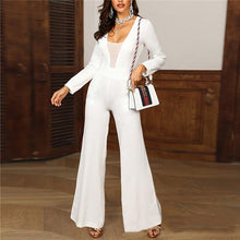 Sexy V Collar Solid Color Jumpsuits