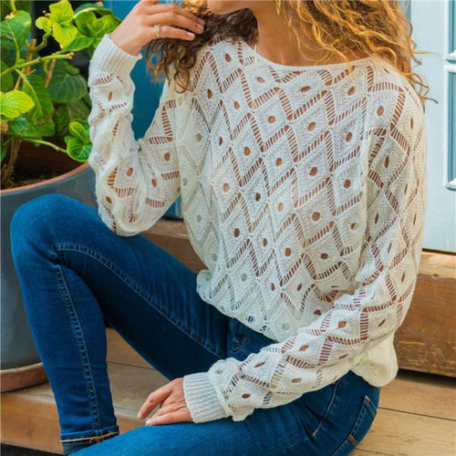 Fashion Hollow Casual Knitted Shirts