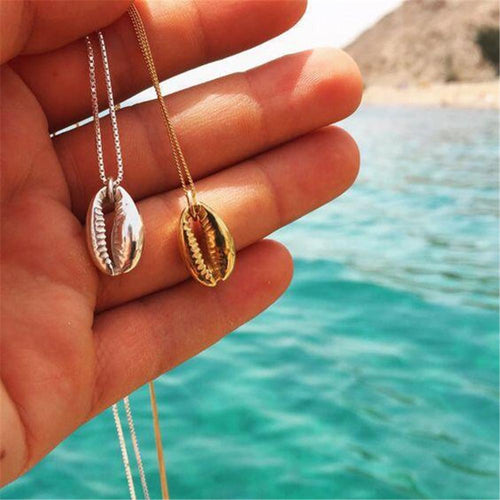 Fashion Wild Alloy Shell Necklace