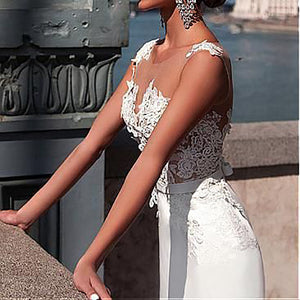 Sexy Pure Lace Perspective Dress Gown