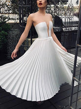 Sexy V Neck Pleated Bare Back Off-Shoulder Splicing Dress