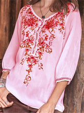 Fashion Seven Sleeve National Printed Shirt