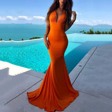 Sexy V Neck Bodycon Beach Maxi Dress