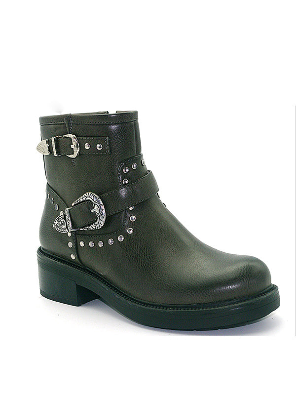 Autumn Winter   New Low-Heeled Women's Boots Buckle Buckle With Fashion Leather Boots