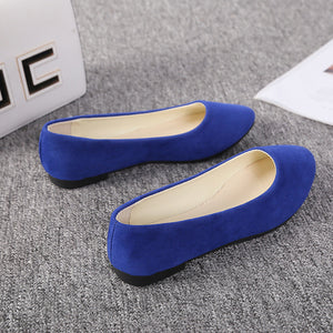 Spring And Autumn Fashion Pointed Single Shoes Female Flat Bottom Shallow Mouth Candy Color Women's Shoes