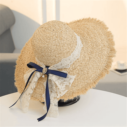 Fashion Casual Bow Lace Straw Hat