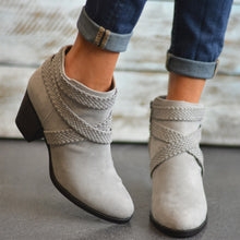 Autumn And   Winter Models With Thick And High Heel Wild Short Martin Boots Women   40-43Women's Boots