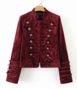 Velvet Military Wind Jacket   Women's Jackets