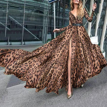 Sexy Leopard Pattern Maxi Dress