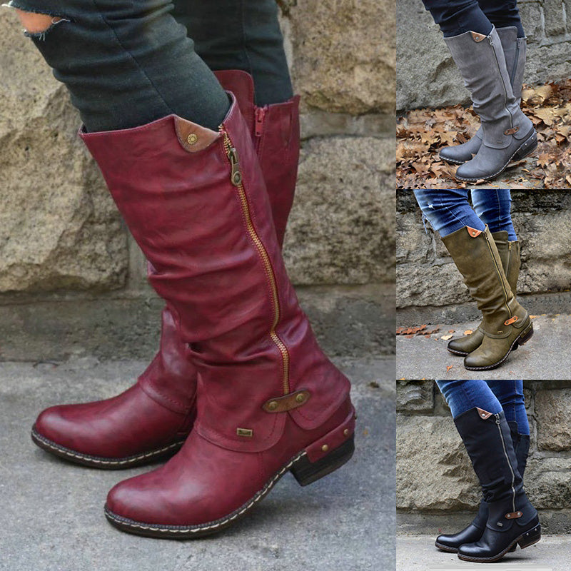 (Last day 70% OFF) Winter Waterproof Snow Cowboy Knee Boots [Limited SALE]