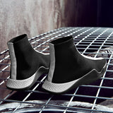 Slip-On Shoes - Fashionable High-Top Sneakers