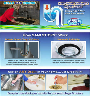 Magic Sewer Sticks - Clean and Release Clogged Sewers in Seconds
