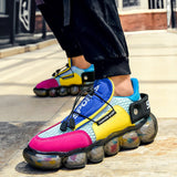 Non-slip Casual Sneakers - Men Retro Breathable Air Mesh Chunky Shoes