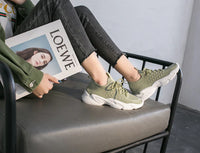 Women Fashion Shoes - Color Casual Sport Sneakers