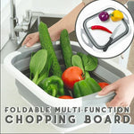 Eco-Friendly 3in1 Multi-Function Foldable Cutting Board, Washing Bowl & Draining Fruit Basket [Limited SALE: Pay 2 Get 3]