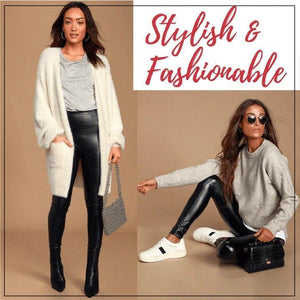 Stretch-Fit Faux Leather Leggings