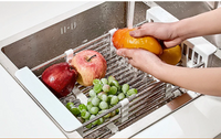 (Last Day Promotion 50% OFF) Kitchen Telescopic Drainer Rack (Limited time offer: Pay 2 Get 3)