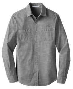 Men's District Made Chambray Shirt (Badge Logo)