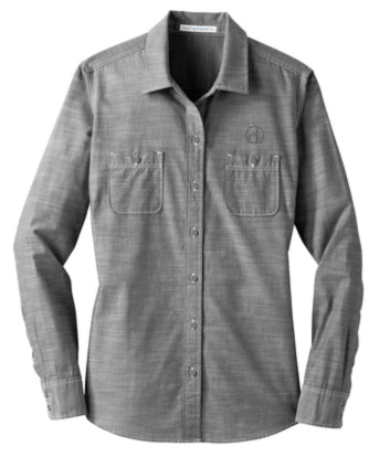 Ladies District Made Chambray Shirt (Badge Logo)