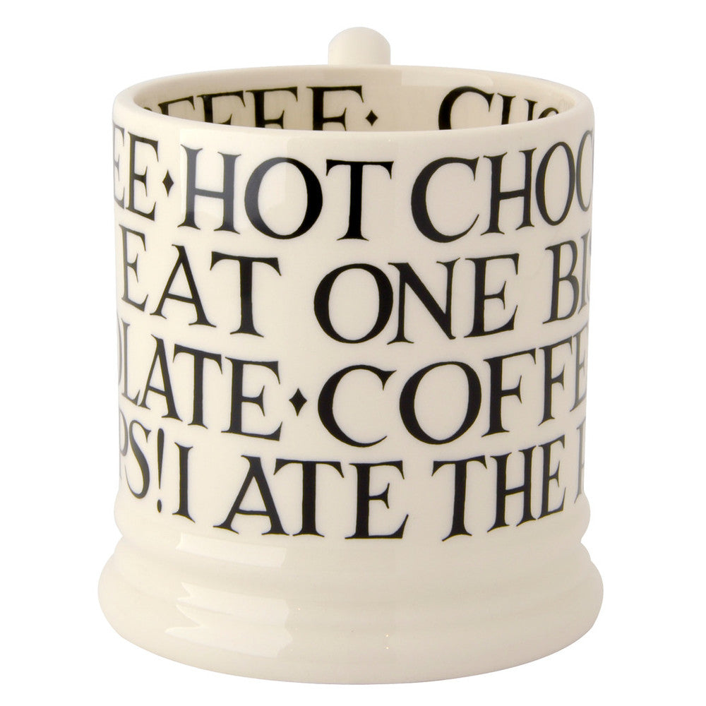 Black Toast (All over writing) 1/2 Pint Mug