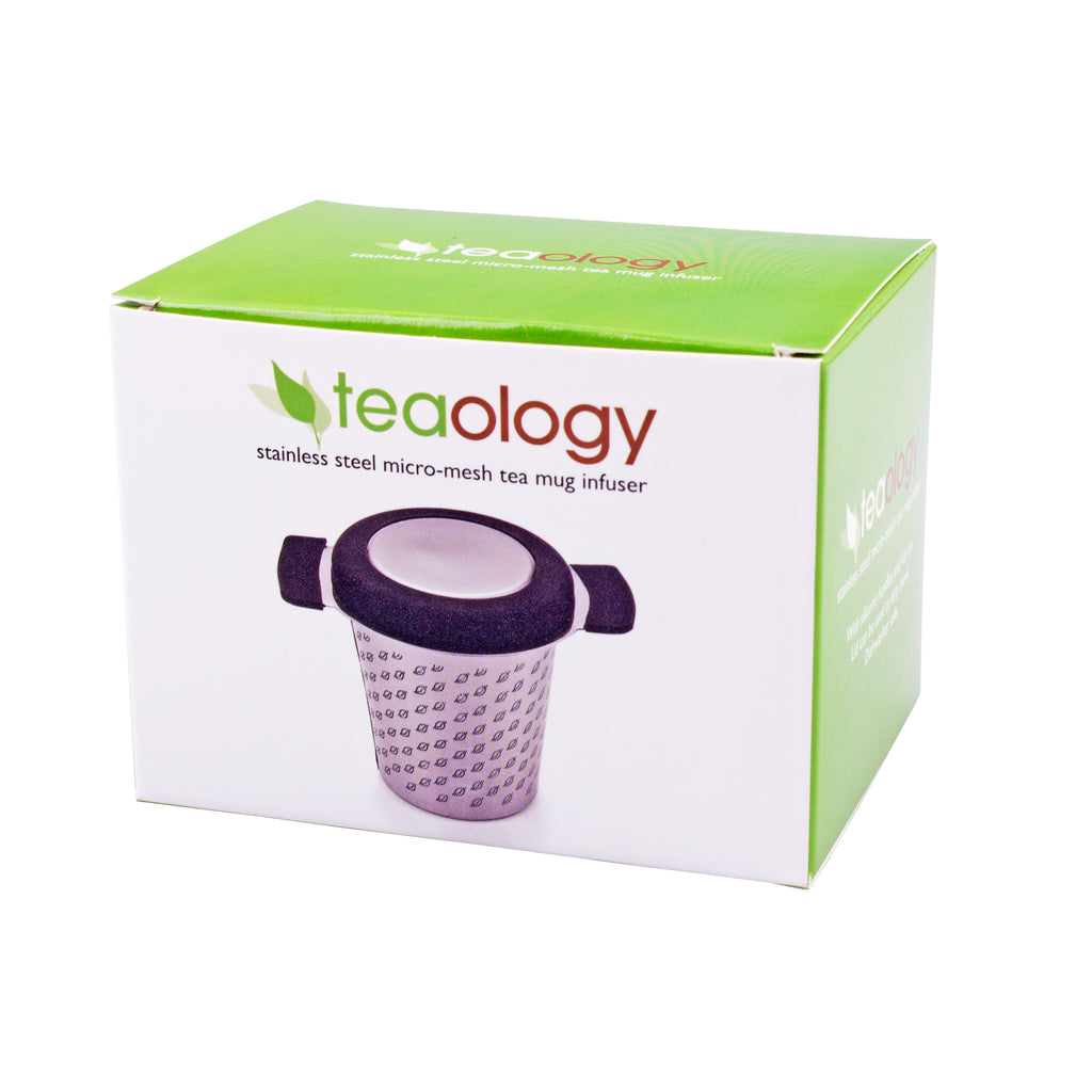 Micromesh Tea Mug Infuser with Lid - Stainless Steel