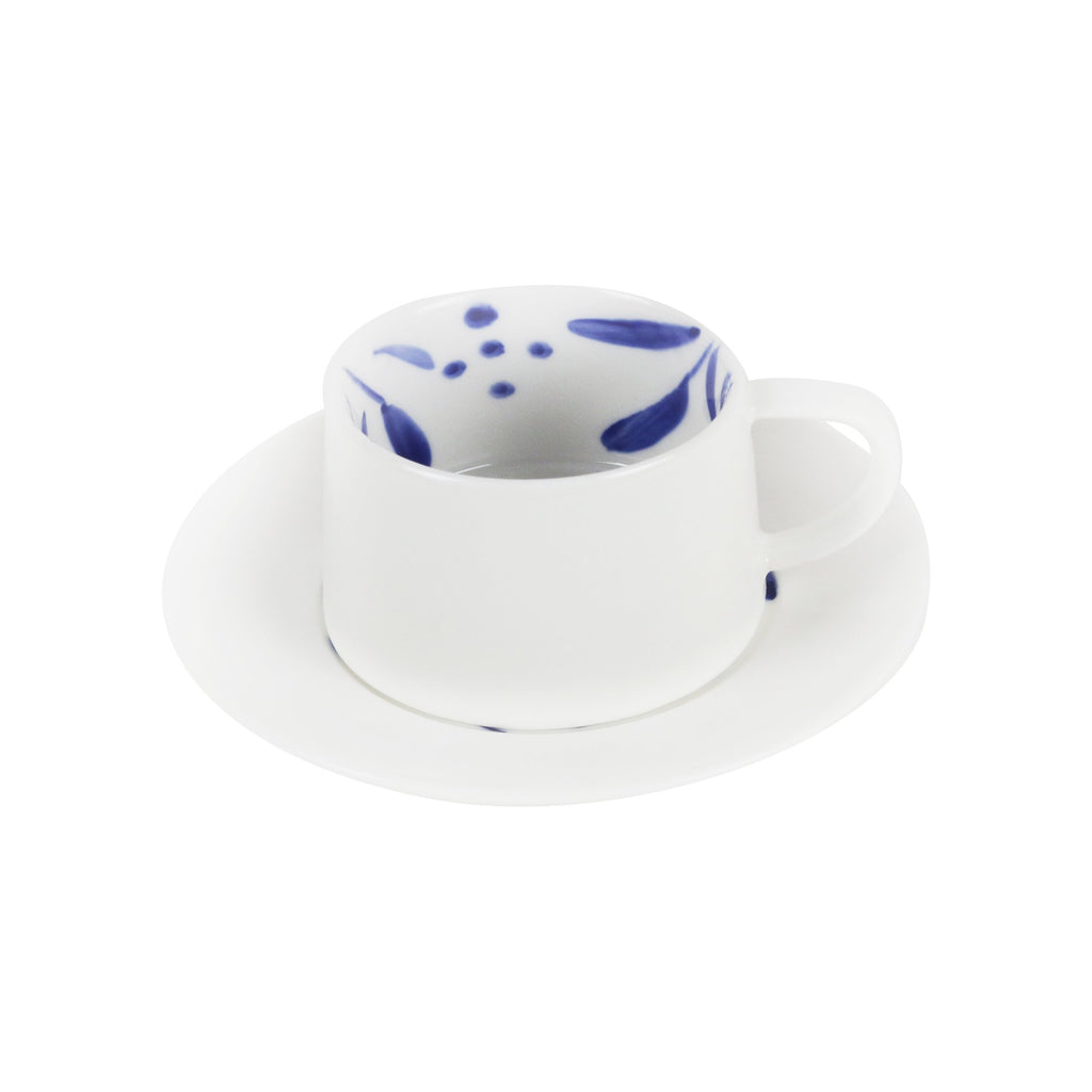 Wattle Hand-Painted Cup and Saucer