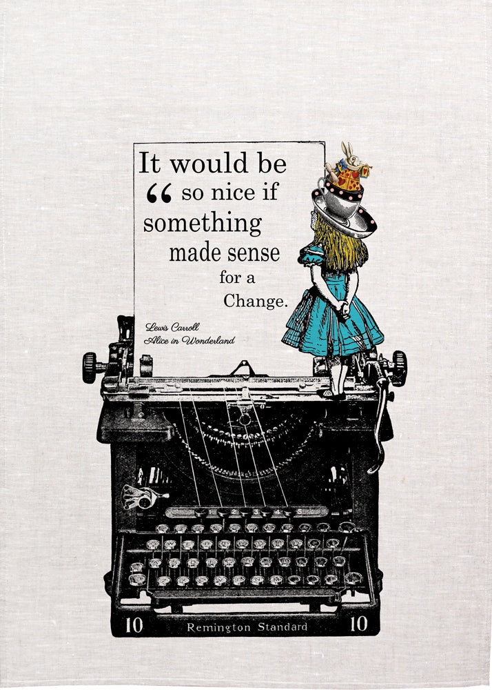Alice Tea Towel - Typewriter