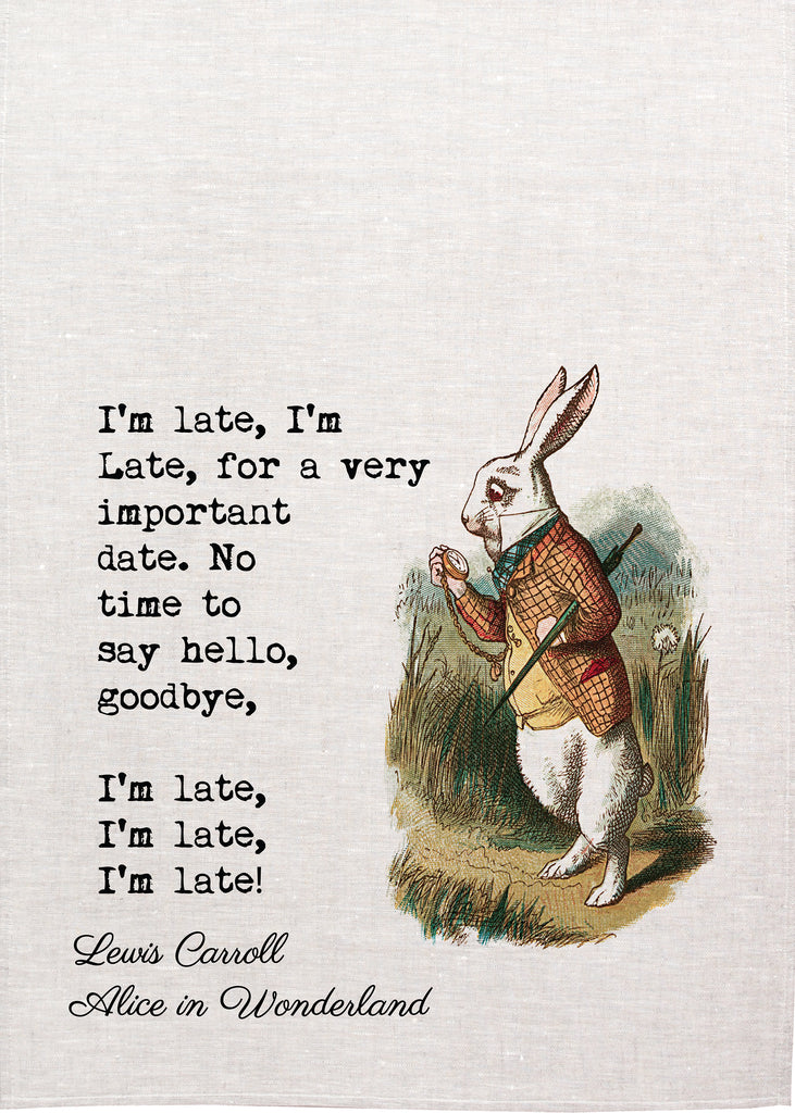 Alice Tea Towel - Rabbit