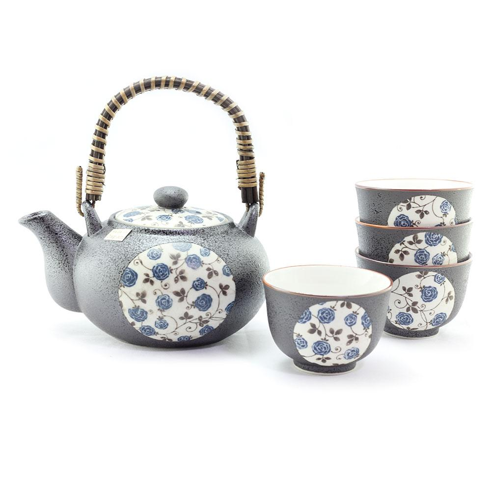 Blue Rose Tea Set
