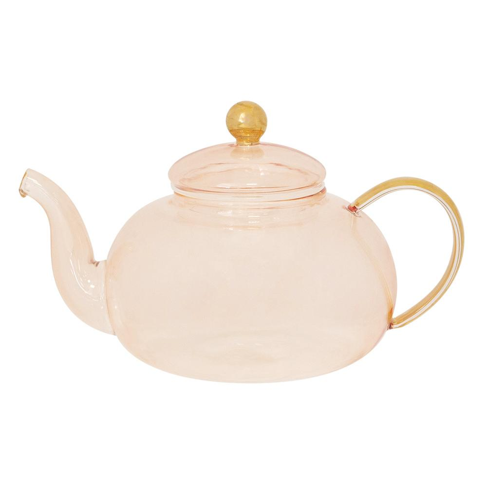 Cristina Re Teapot - Rose Glass