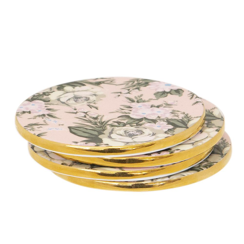 Belle De Fleur - Set of 4 Ceramic Coasters