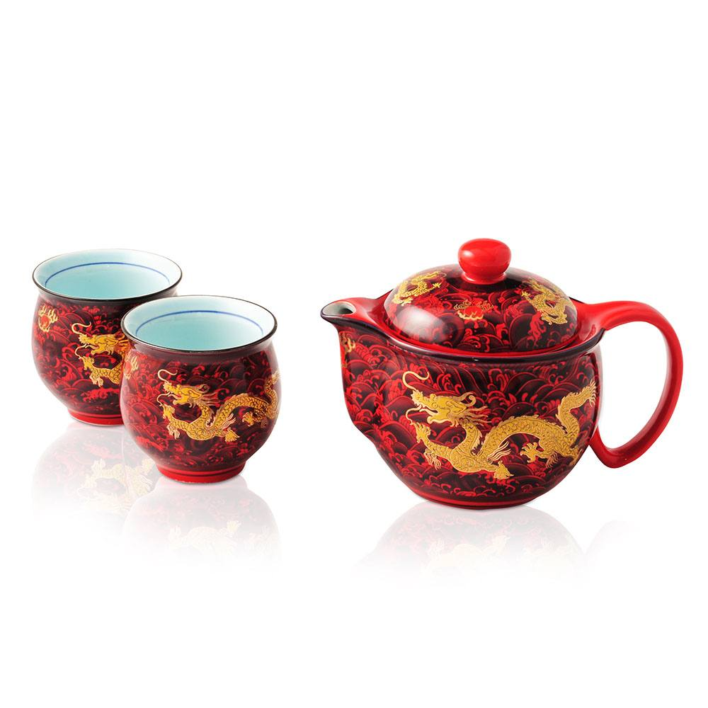 Dragon Kings Red Tea Set