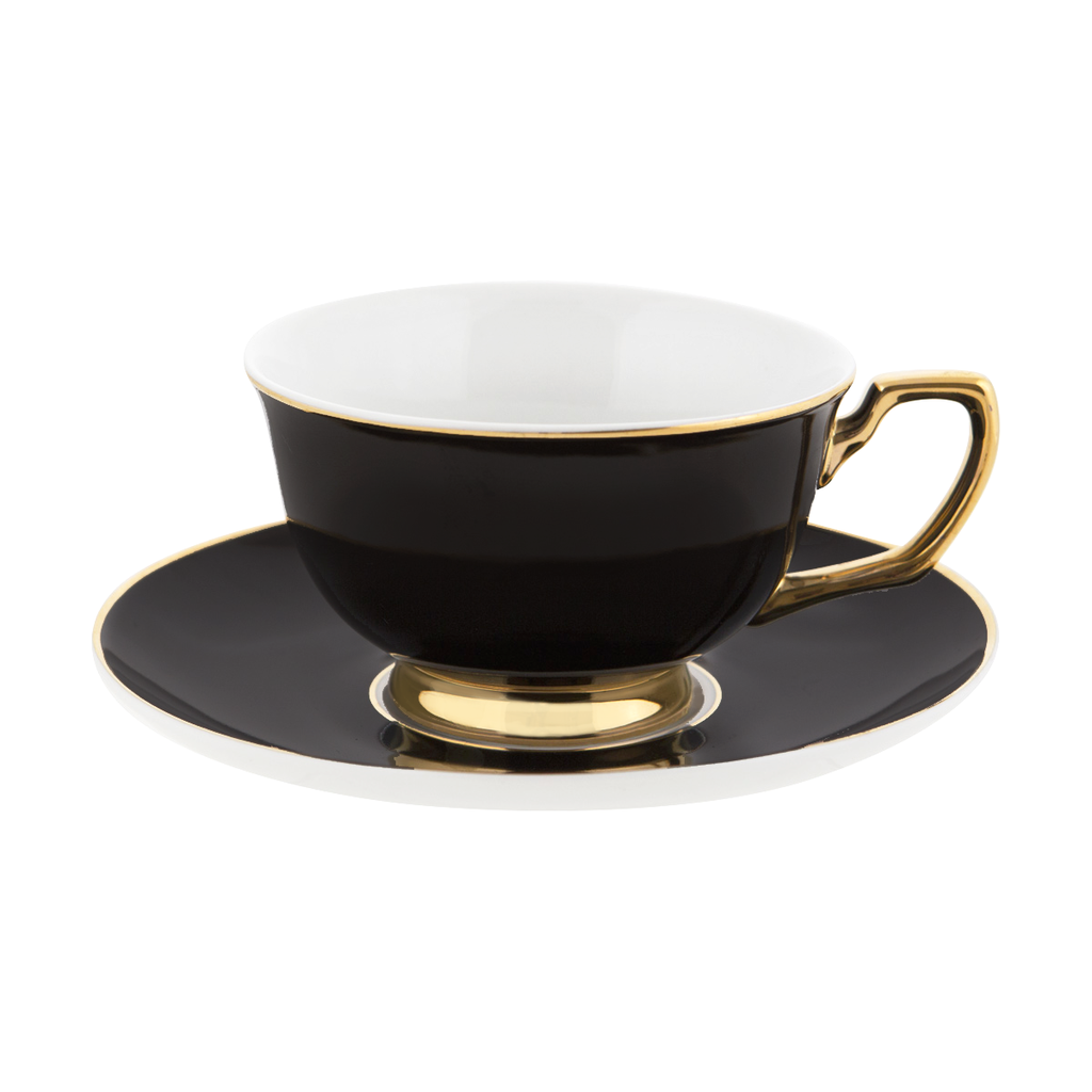 Ebony Teacup & Saucer