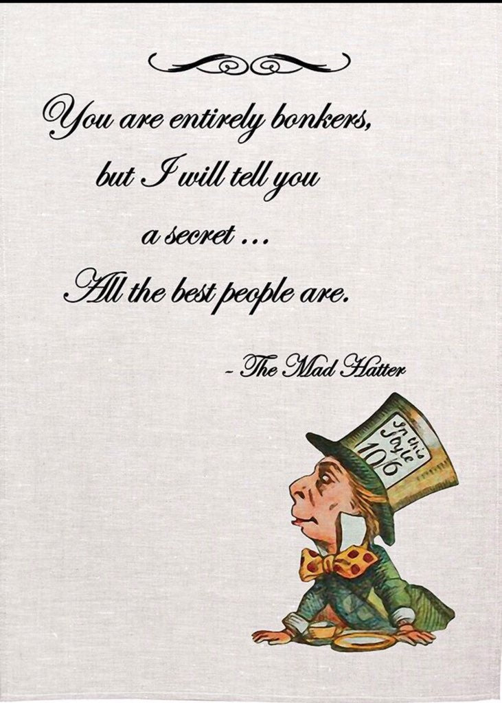 Alice Tea Towel - Mad Hatter