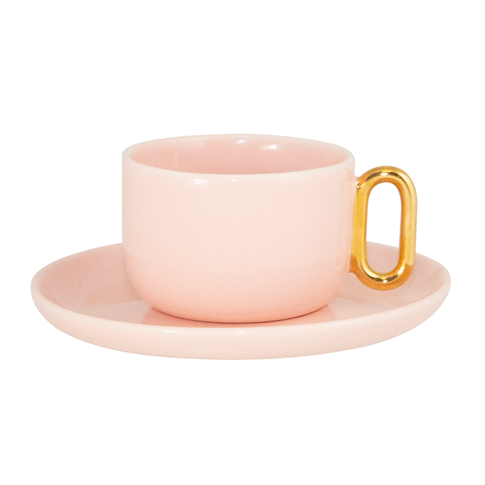 Celine Pink Luxe Teacup and Saucer