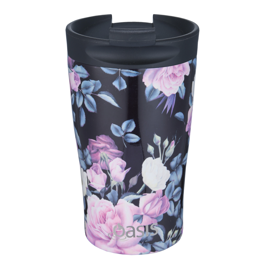 Oasis Double Wall Travel Cup - Midnight Floral