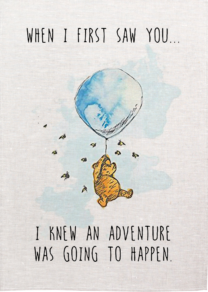 Pooh Tea Towel - Adventure