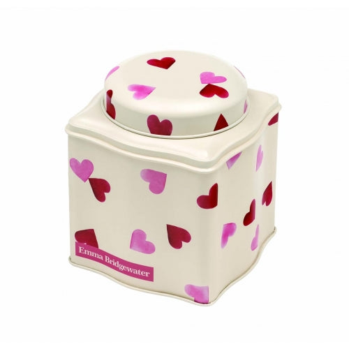 Pink Hearts Tea Caddy