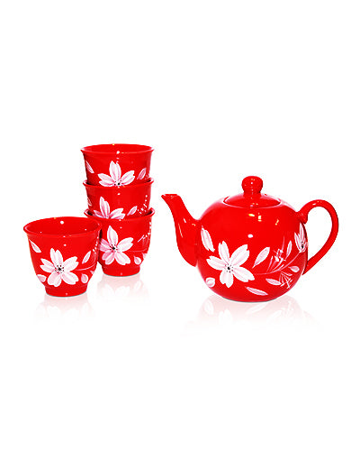Red Happiness Tea Set