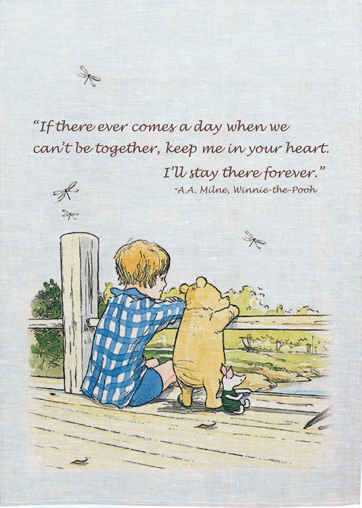 Pooh Tea Towel - Forever