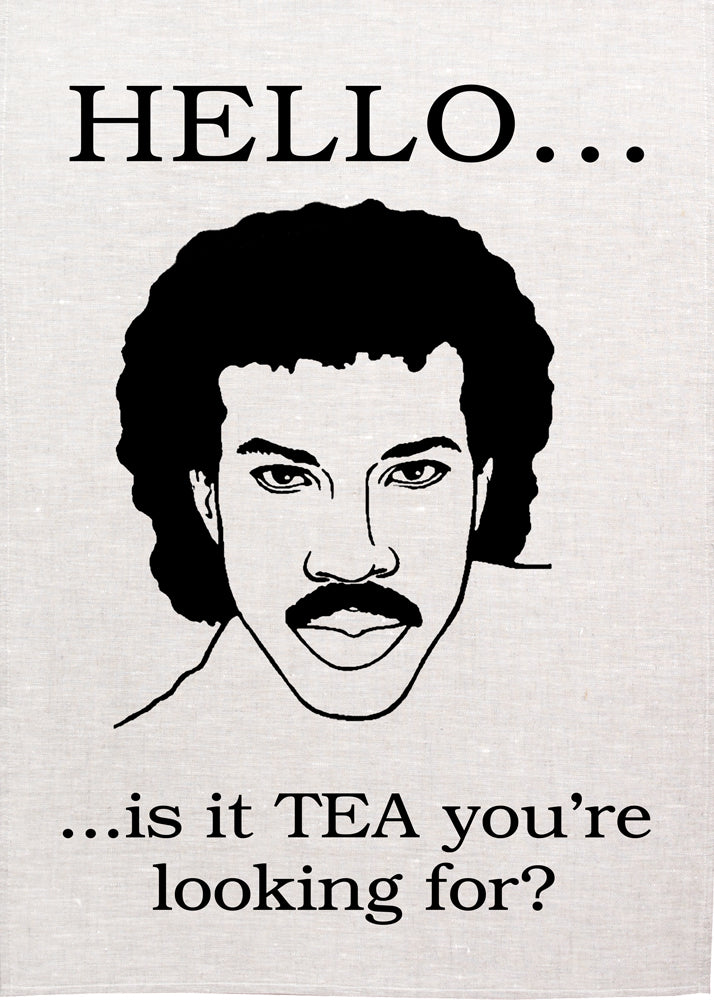 Lionel Richie Tea Towel - Hello