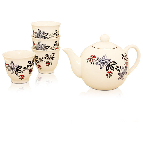 Berry Flowers Tea Set