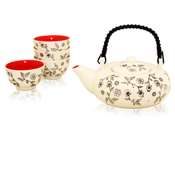 Flower Garden Tea Set