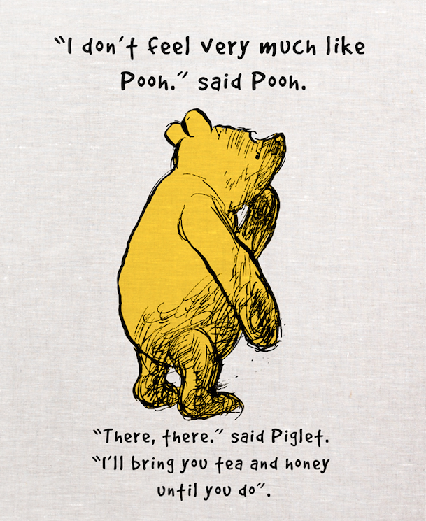Pooh Tea Towel - Tea and Honey