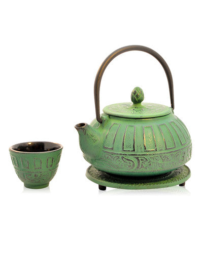 Reflection Green Iron Teapot